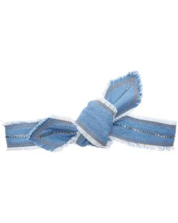 Denim Knotted Headstrap