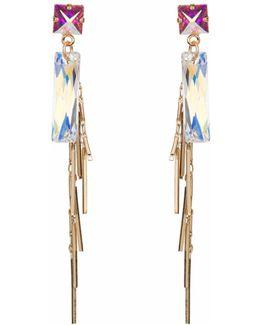 Baguette Cluster Earring Gold
