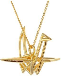 Frame Crane Necklace Gold