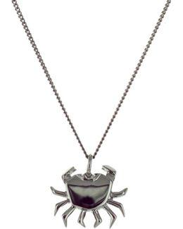 Mini Crab Necklace Gun Metal