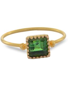 Grecian Gold Green Tourmaline Ring