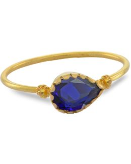 Grecian Gold Blue Sapphire Ring