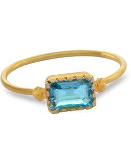 Grecian Gold Aquamarine Ring