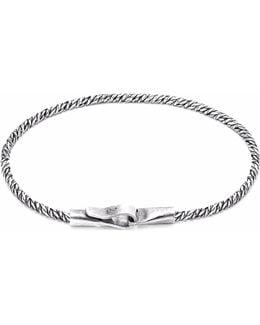 Silver Staysail Double Sail Chain Bracelet