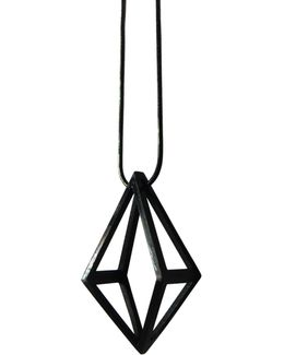 Black Inverted Kite Pendant