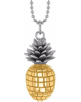 Large Pineapple Two Tone Necklace
