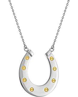 Large Horseshoe Two Tone Necklace