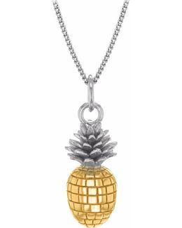Small Pineapple Two Tone Necklace