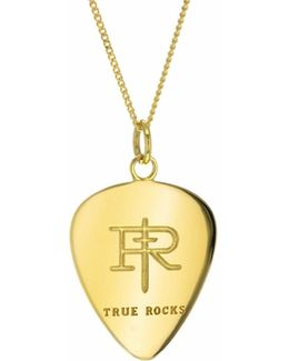 Plectrum Necklace Yellow Gold