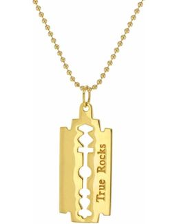 Razorblade Necklace Yellow Gold