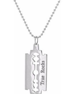 Razorblade Necklace Silver
