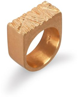 Rugged Ring In Gold