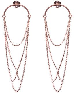 Boog Drop Earrings Arch Rose Gold