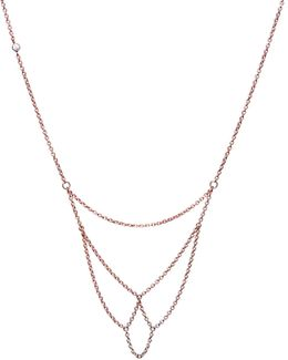 Boog Fine Chain Necklace Rose Gold