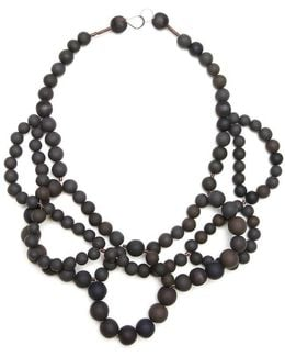 Double Ballerina Necklace Coal