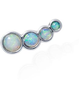 Opal Slider Mono Earring Left Ear