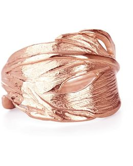 Swan Feather Ring Rose Gold