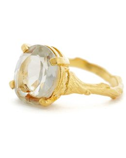 Drop In The Wild Ring With Prasiolite & Gold