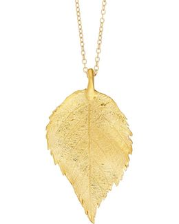 Maxi Raspberry Leaf Necklace Gold