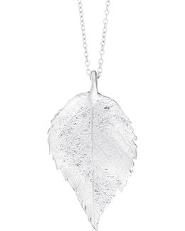 Maxi Raspberry Leaf Necklace Silver