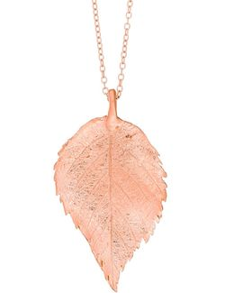 Maxi Raspberry Leaf Necklace Rose Gold