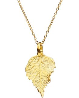 The Sweetest Thing Tiny Raspberry Leaf Necklace Gold