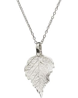 The Sweetest Thing Tiny Raspberry Leaf Necklace Silver
