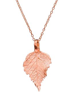 The Sweetest Thing Tiny Raspberry Leaf Necklace Rose Gold