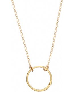 Hawthorn Twig Infinity Necklace Gold
