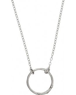 Hawthorn Twig Infinity Necklace Silver
