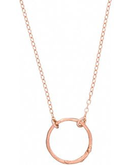 Hawthorn Twig Infinity Necklace Rose Gold
