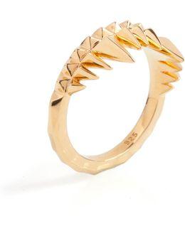 Crocodile Bite Ring Gold