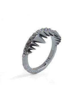 Crocodile Bite Ring Black