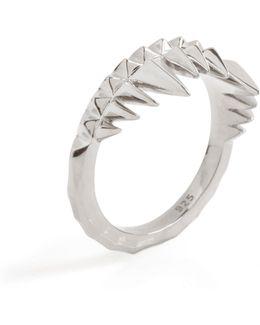 Crocodile Bite Ring Silver