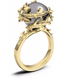 Dark Grey Pearl Ring