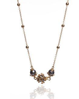 Three Dark Grey Pearls Necklace