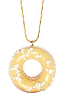 Doughnut With White Chocolate Sprinkles (gold Chain)