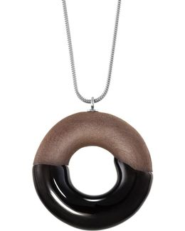 Cocoa Doughnut Necklace Silver