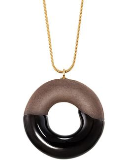 Cocoa Doughnut Necklace Gold