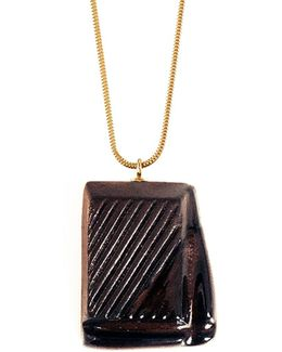 Slightly Melted Dark Chocolate Necklace