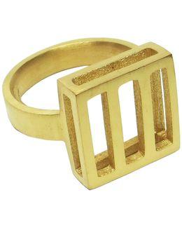 Gold Panel Detail Ring