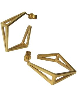 Med Gold Kite Hoop Earrings