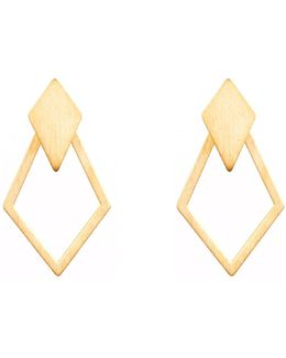 Ruit Detachable Drop Earrings Gold