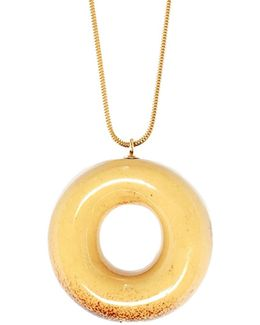 Vanilla Doughnut Necklace