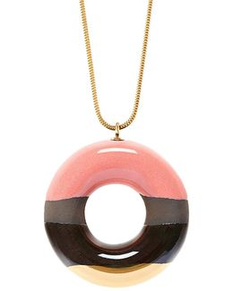 Doughnut With Strawberry, Chocolate & Gold Glaze