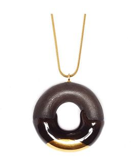 Cocoa Doughnut With Chocolate & Gold Glaze