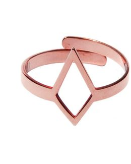Ruit Adjustable Knuckle Ring Small Rose Gold