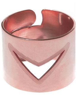 Tui Adjustable Broad Ring Rose Gold