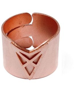 The Hef Adjustable Broad Ring Rose Gold