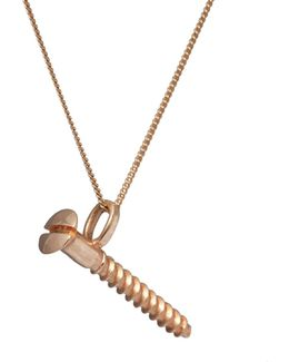 Round-head Screw Pendant Gold